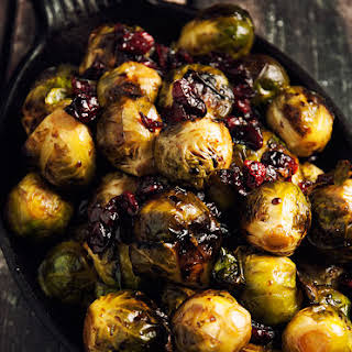 Brussels Sprouts With Balsamic and Cranberries.