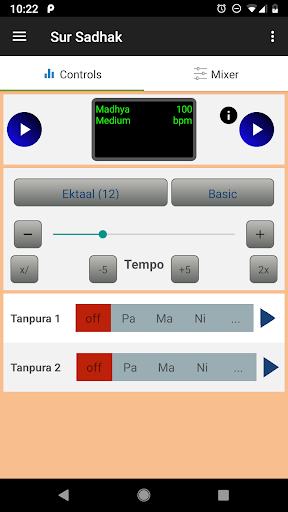 Sur Sadhak:Tabla,Tanpura for Indian Vocal Practice 1.3.8 screenshots 1