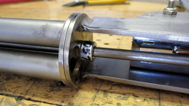 Photo: Shaft collar to lock down the pivot rod