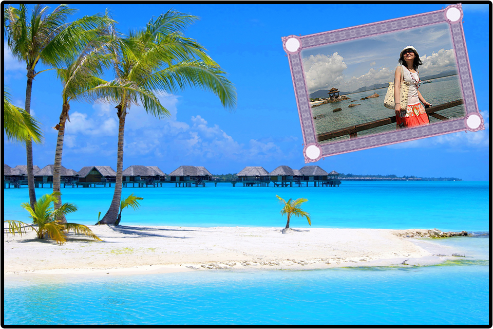 beach photo frame screenshot