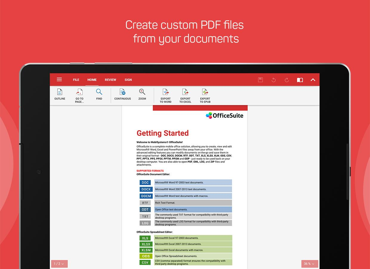 OfficeSuite : Free Office + PDF Editor- screenshot