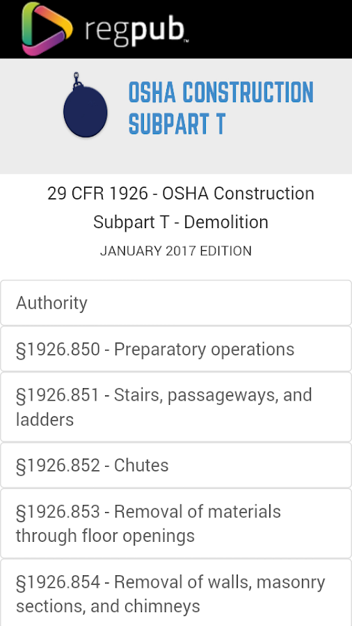29 Cfr 1926 Subpart T Android Apps On Google Play
