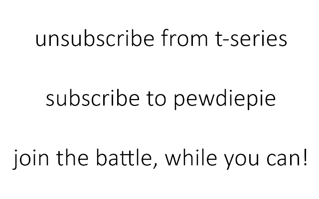 T-Series is going down!