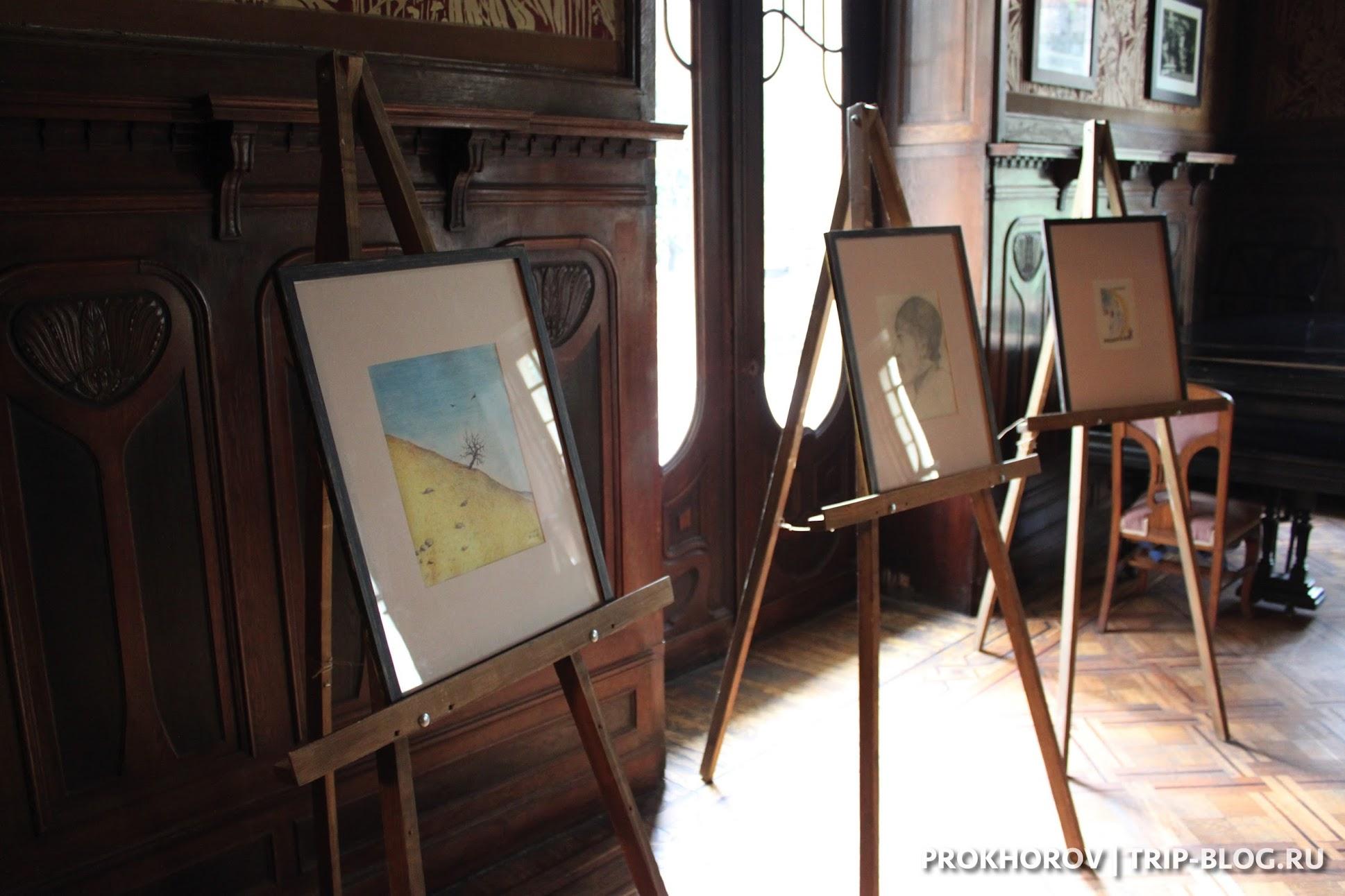 Экспозиция в Доме писателей в Тбилиси