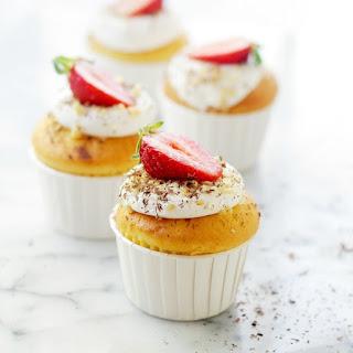 Ice Cream Filled Vanilla Cupcakes