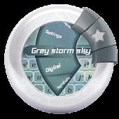 Grey storm sky GO Keyboard