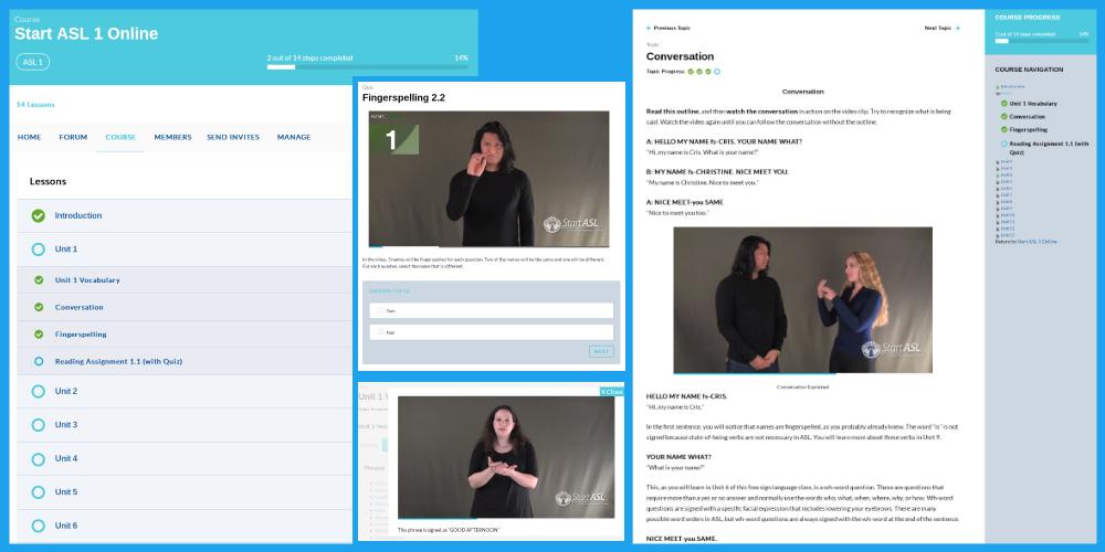 Start ASL Online Classroom