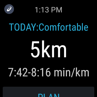 MY ASICS Run Training: captura de pantalla