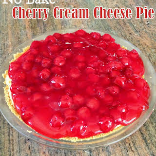 No Bake Cherry Cream Cheese Pie.
