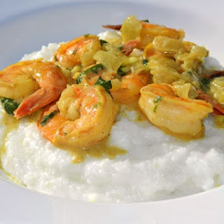 Coconut Curry Shrimp and Grits