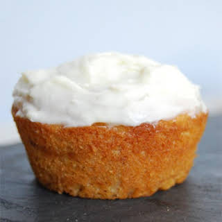 Ginger-Peach Cupcakes with Cream Cheese Frosting.
