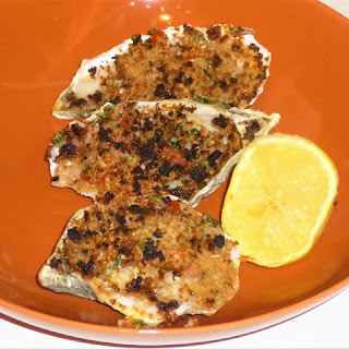 Cornish Rockefeller Style Grilled Oysters