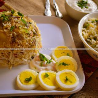 Vegetable Egg Biryani Recipes