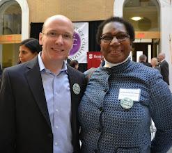 Photo: Edwards Wildman Managing Partner Matthew McTygue and GBLS Executive Director Jacquelynne Bowman.