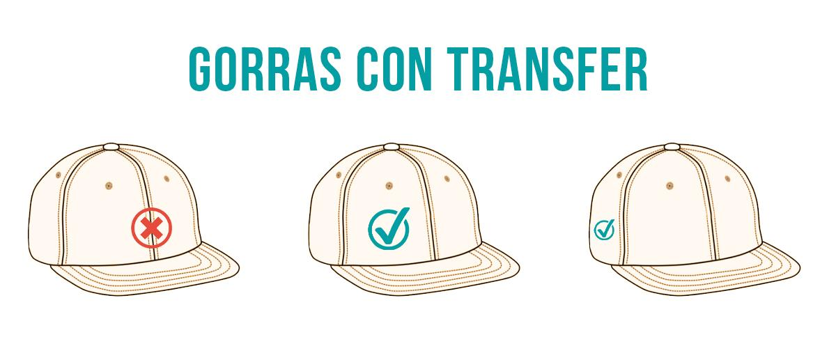 Gorras personalizadas con transfer textil