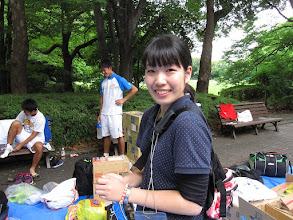 Photo: 女子マネージャーの齋藤(2年) 一人でのマネージャー業務本当にご苦労様でした。