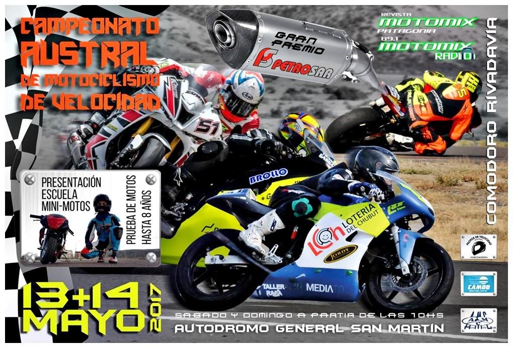 El Moto Pista Austral sale a pista en Comodoro