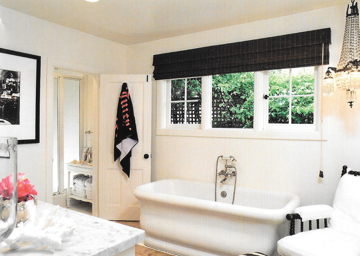 The Master Bathroom Was Redone With A New Configuration Bathtub And Marble Top Vanity Of Course This Is Malibu So There Is A Crystal Chandelier In The