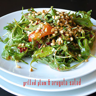 Grilled Plum & Arugula Recipe