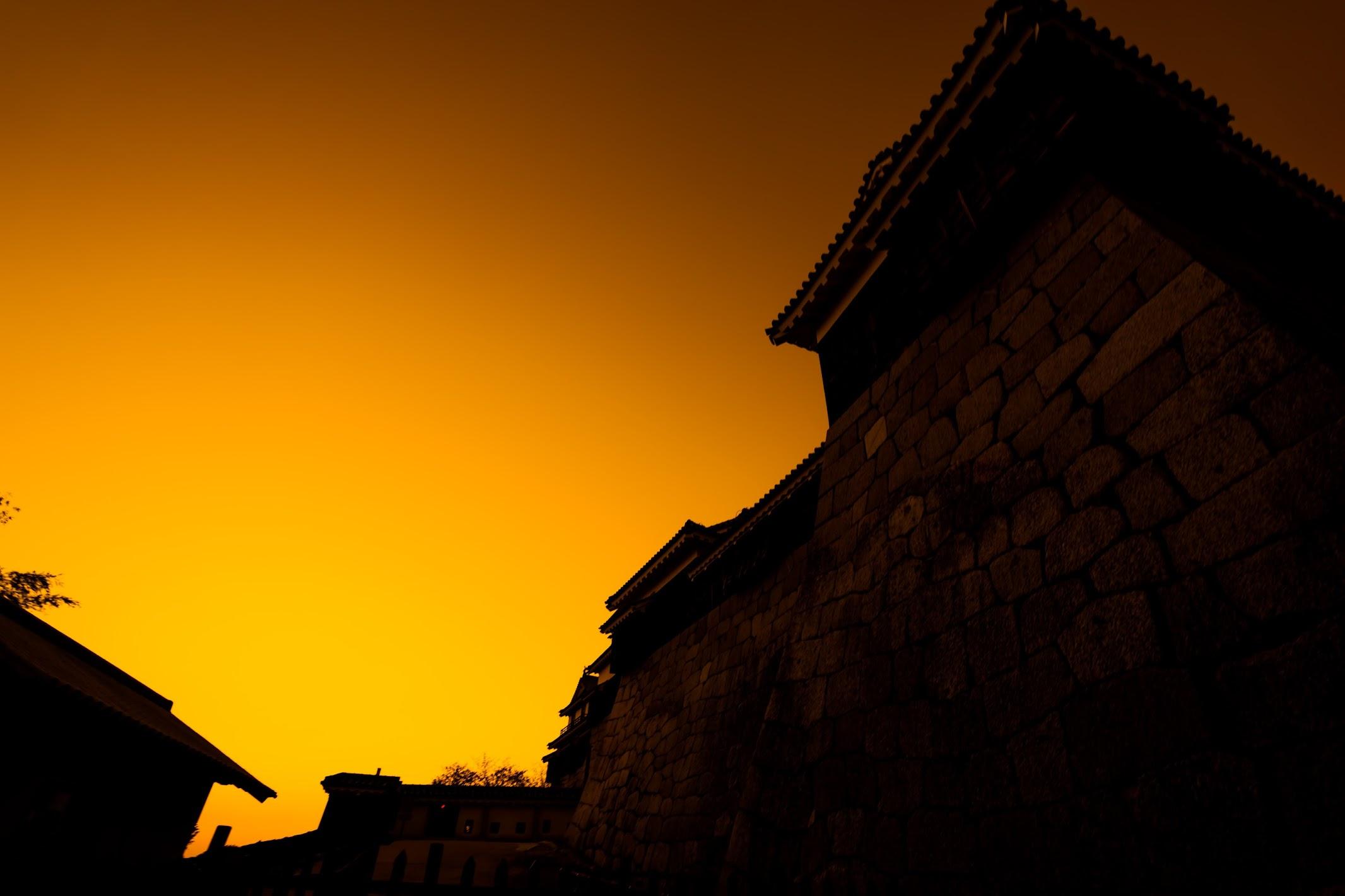 松山城 夕景3