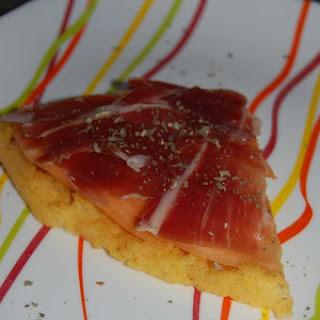 Polenta with Iberico Ham and Melon.