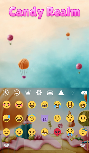Candy Realm Animated Keyboard for PC