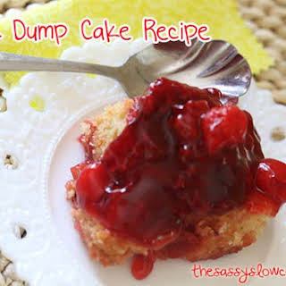 Raspberry and Cherry Dump Cake.