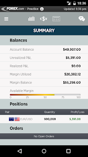 FOREXTrader for Android - náhled