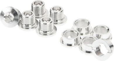 Problem Solvers Single Chainring Bolts, Silver, Set of 5 alternate image 0