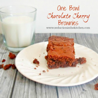 One Bowl Chocolate Cherry Brownies