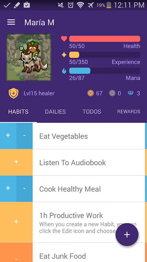 Habitica: Gamify Your Tasks: captura de pantalla