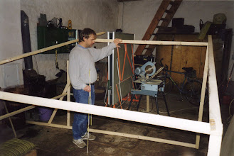 Photo: Testing the size of the deckpods in Dad's garage...