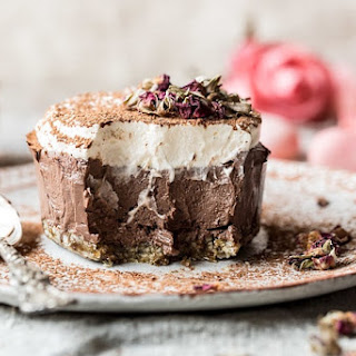 Vegan Chocolate Custard Cake.