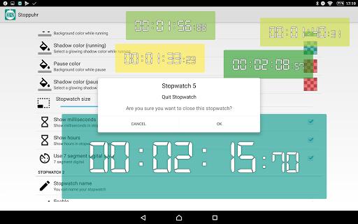 Floating Stopwatch, free multitasking timer 3.2.7 screenshots 15
