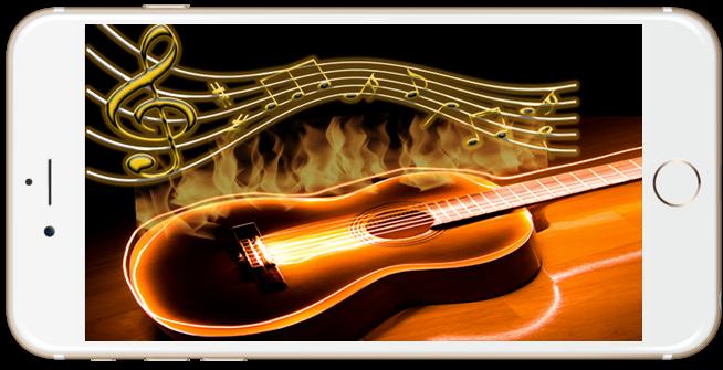 android Guitar Hologram Simulator Screenshot 1