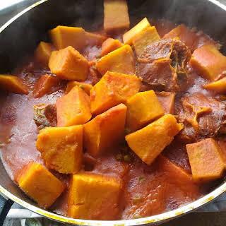 Beef Yam Porridge.