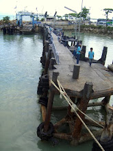 Photo: Docking up the big ferry.