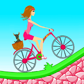 Biker Girl Hill Climb Cycling