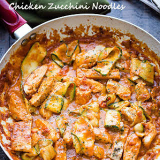 Vodka Sauce Chicken Zucchini Noodles.