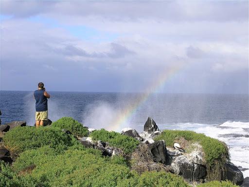 Galapagos-Espanola-rainbow - A rainbow on Espanola Island in the Galápagos.