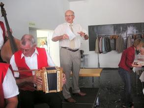 Photo: Begrüssung durch den Gemeindepräsidenten von Reinach Herr Urs Hintermann