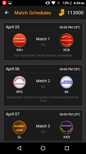 Prediction Meter IPL 2017 for PC
