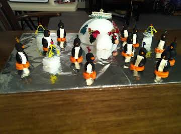 Penguins and Cheese Ball Igloo