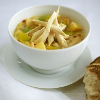 Leek and Corn Soup with Chicken