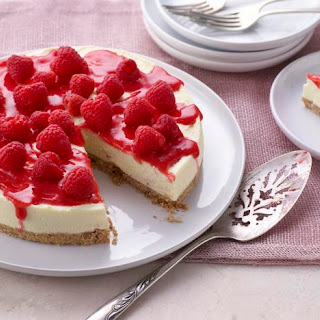 White Chocolate And Raspberry Cheesecake.