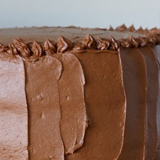 Espresso Chiffon Cake with Chocolate Buttercream Frosting.