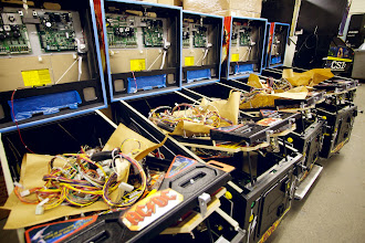 Photo: AC/DC pinballs ready for testing