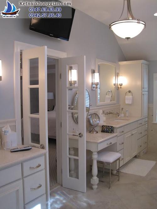 thiết kế phòng tắm sang trọng châu âu