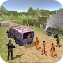 policía transporte criminal 3d icon