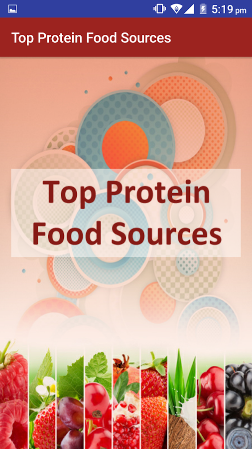 High Protein Diet Sources Food Screenshot